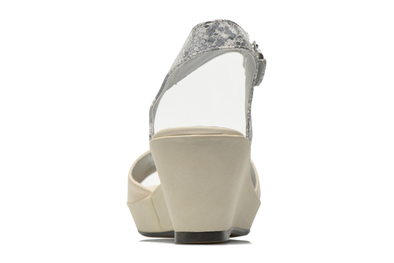 Sandales et nu-pieds Madison Esclin Beige vue droite