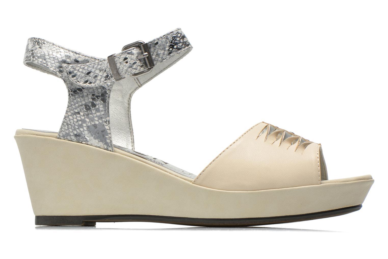 Sandales et nu-pieds Madison Esclin Beige vue derrière