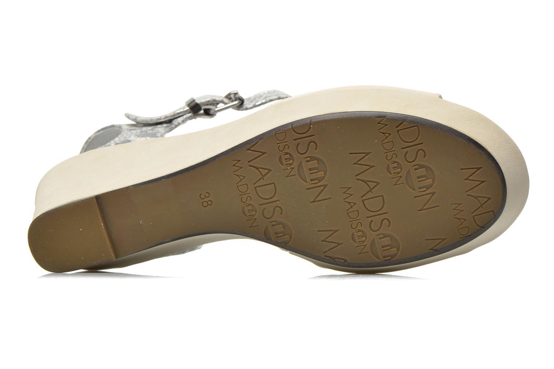 Sandales et nu-pieds Madison Esclin Beige vue haut
