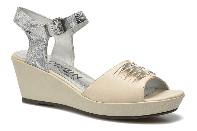 Sandales et nu-pieds Madison Esclin Beige vue détail/paire