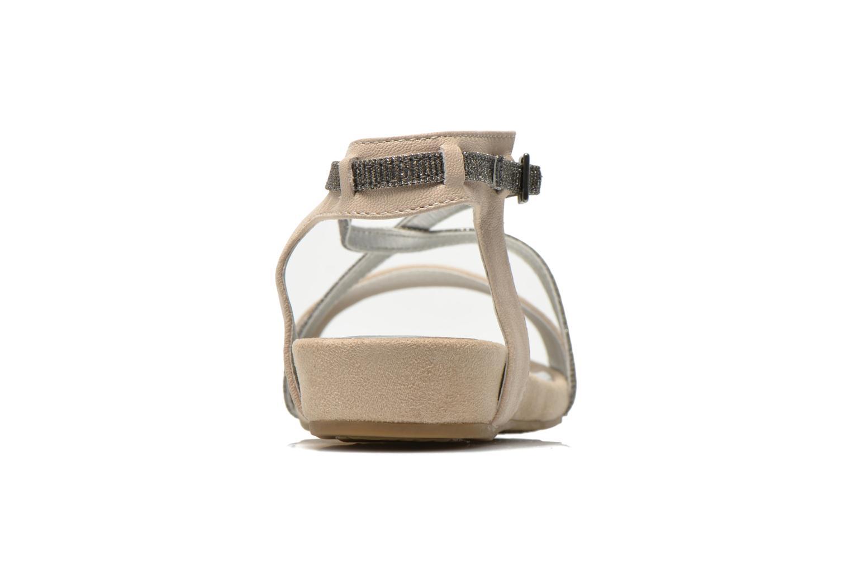 Sandales et nu-pieds Madison Emax Beige vue droite