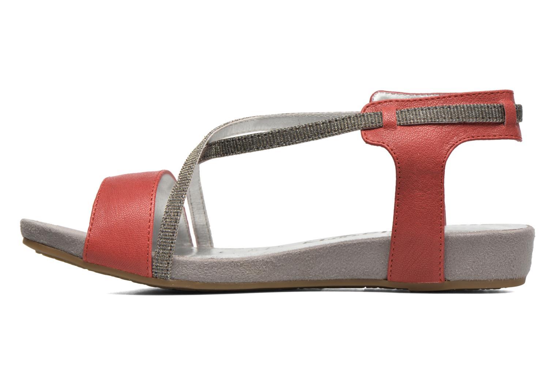 Sandales et nu-pieds Madison Emax Rouge vue face