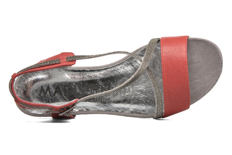 Sandalen Madison Emax rot ansicht von links