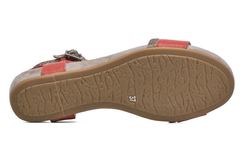 Sandales et nu-pieds Madison Emax Rouge vue haut