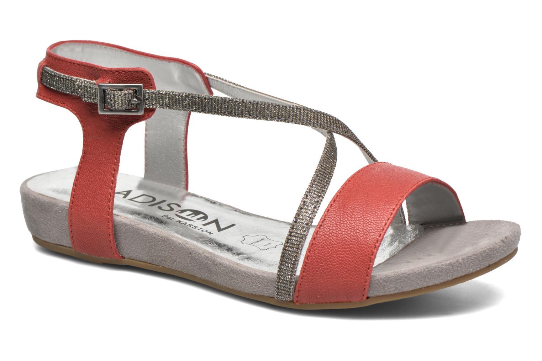 Sandales et nu-pieds Madison Emax Rouge vue détail/paire