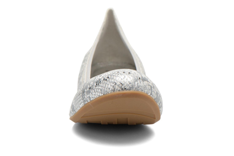 Ballerines Madison Claxin Argent vue portées chaussures