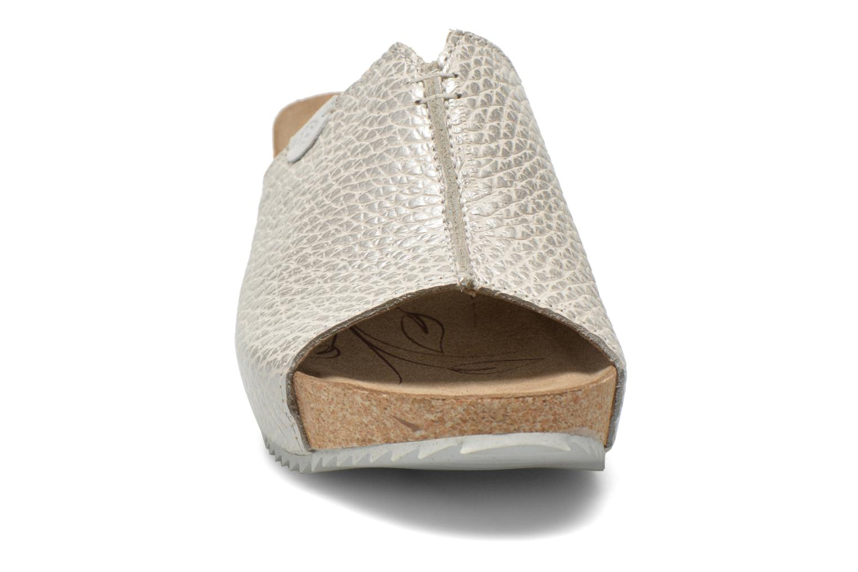 Mules et sabots Josef Seibel Meike 07 Argent vue portées chaussures