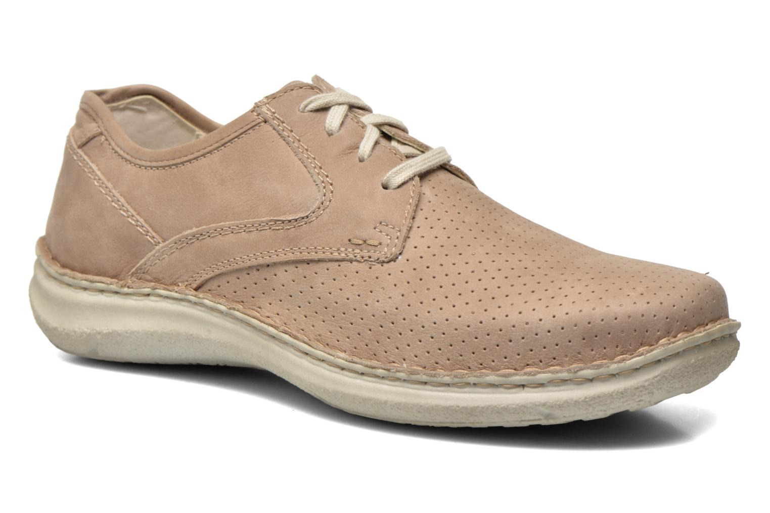 Lace-up shoes Josef Seibel Anvers 43 Beige detailed view/ Pair view