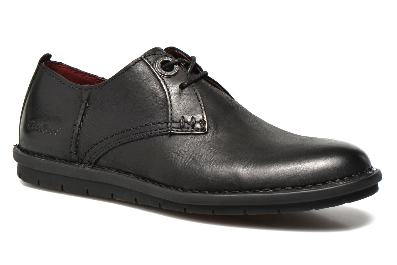 Chaussures à lacets Kickers VIKANG Noir vue détail/paire