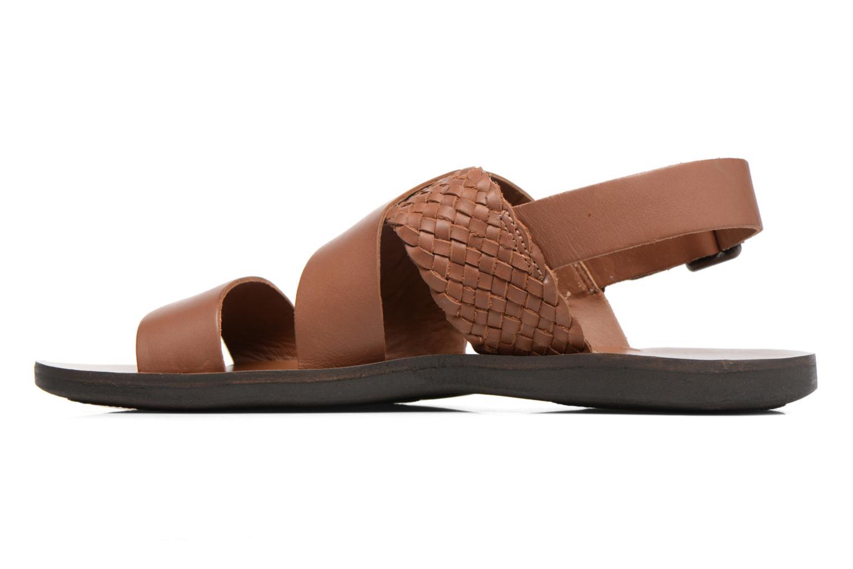 Sandalen Kickers MARVEUS braun ansicht von vorne