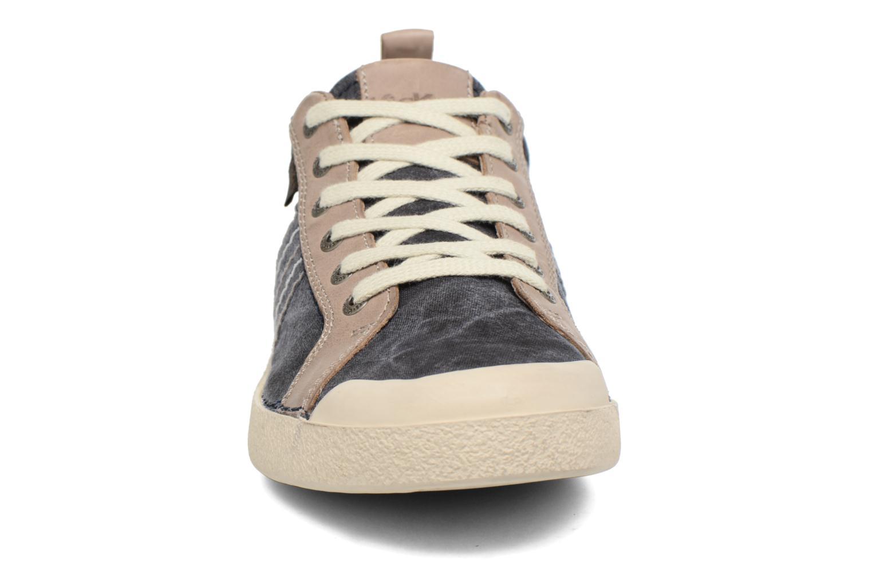 Baskets Kickers TRIDENT Bleu vue portées chaussures