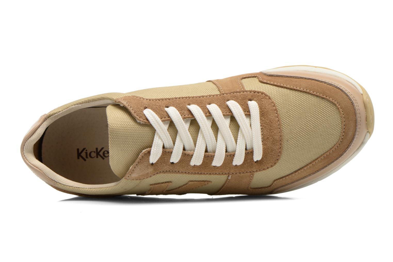 Sneaker Kickers NIELO beige ansicht von links