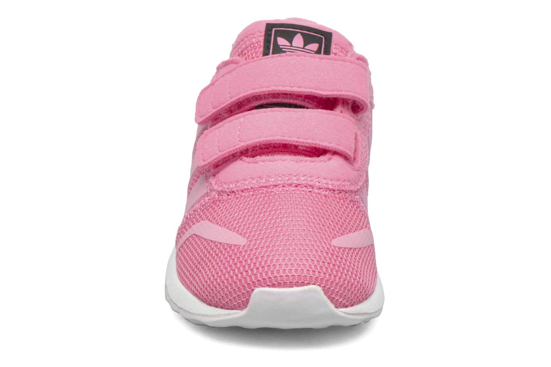 Baskets Adidas Originals Los Angeles Cf I Rose vue portées chaussures