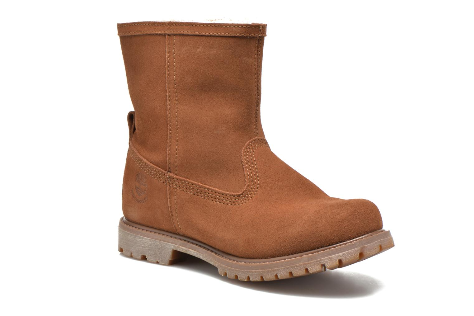 Bottines et boots Timberland Authentics Warm Line Marron vue détail/paire