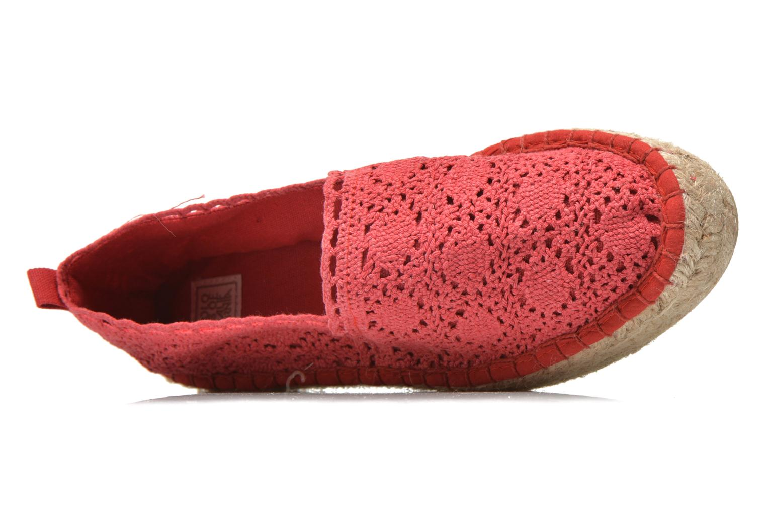 Espadrilles Colors of California Lara 2 Red view from the left