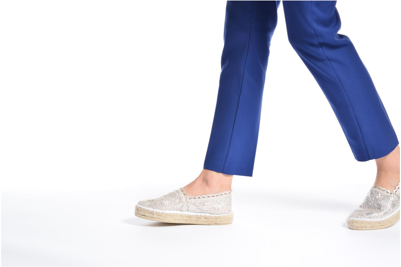 Espadrilles Colors of California Lara 2 Silver view from underneath / model view