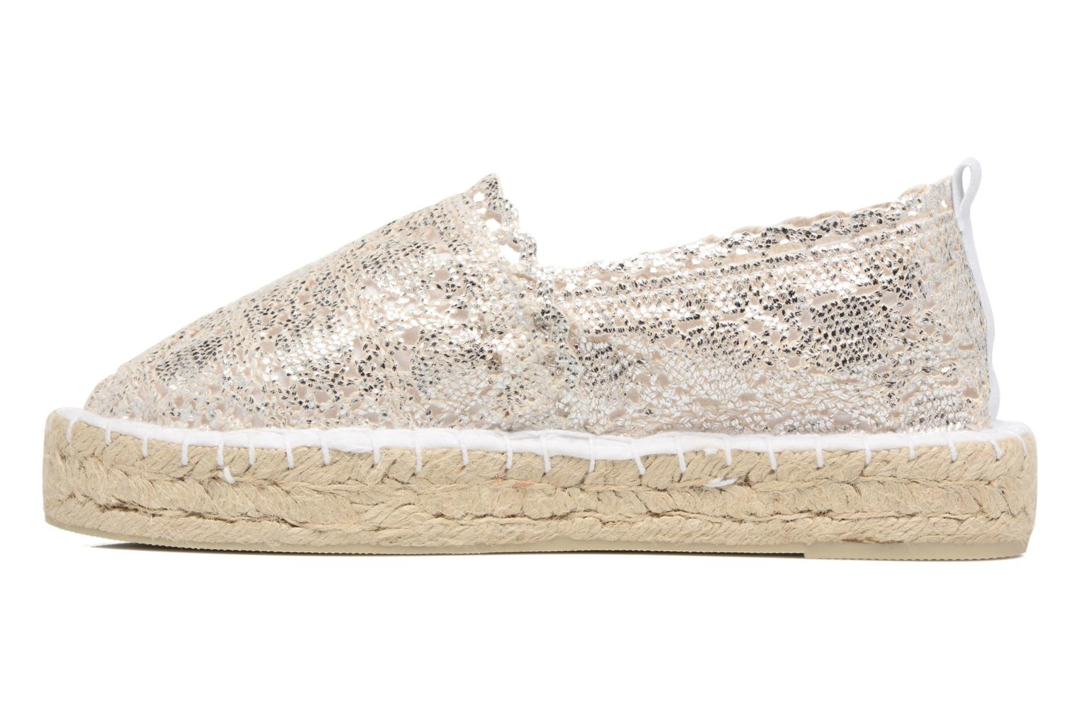 Espadrilles Colors of California Lara 2 Silver front view