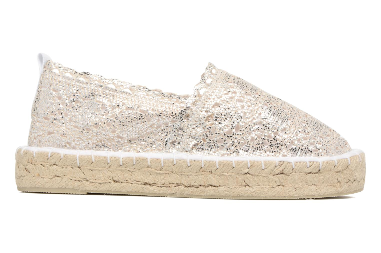 Espadrilles Colors of California Lara 2 Silver back view
