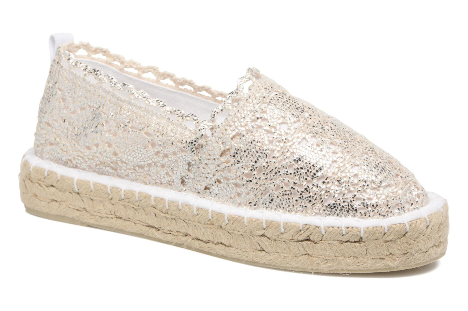 Espadrilles Colors of California Lara 2 Silver detailed view/ Pair view