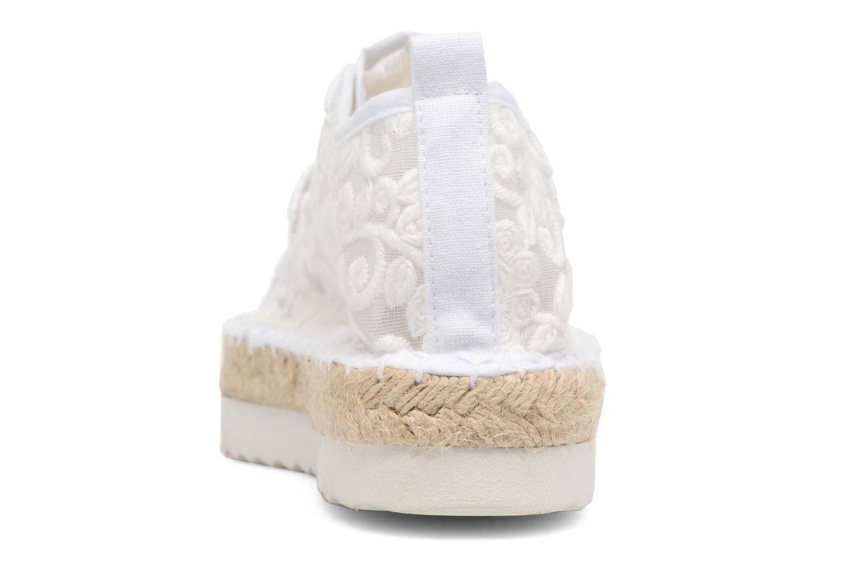 Espadrilles Colors of California Poshpadrille lacet Blanc vue droite