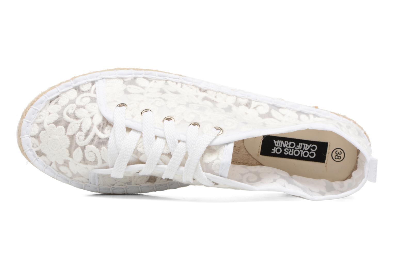 Espadrilles Colors of California Poshpadrille lacet Blanc vue gauche