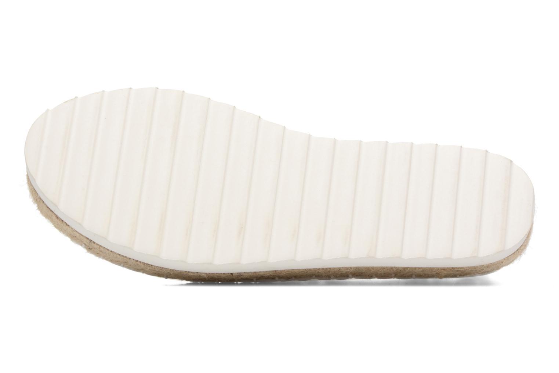 Espadrilles Colors of California Poshpadrille lacet Blanc vue haut
