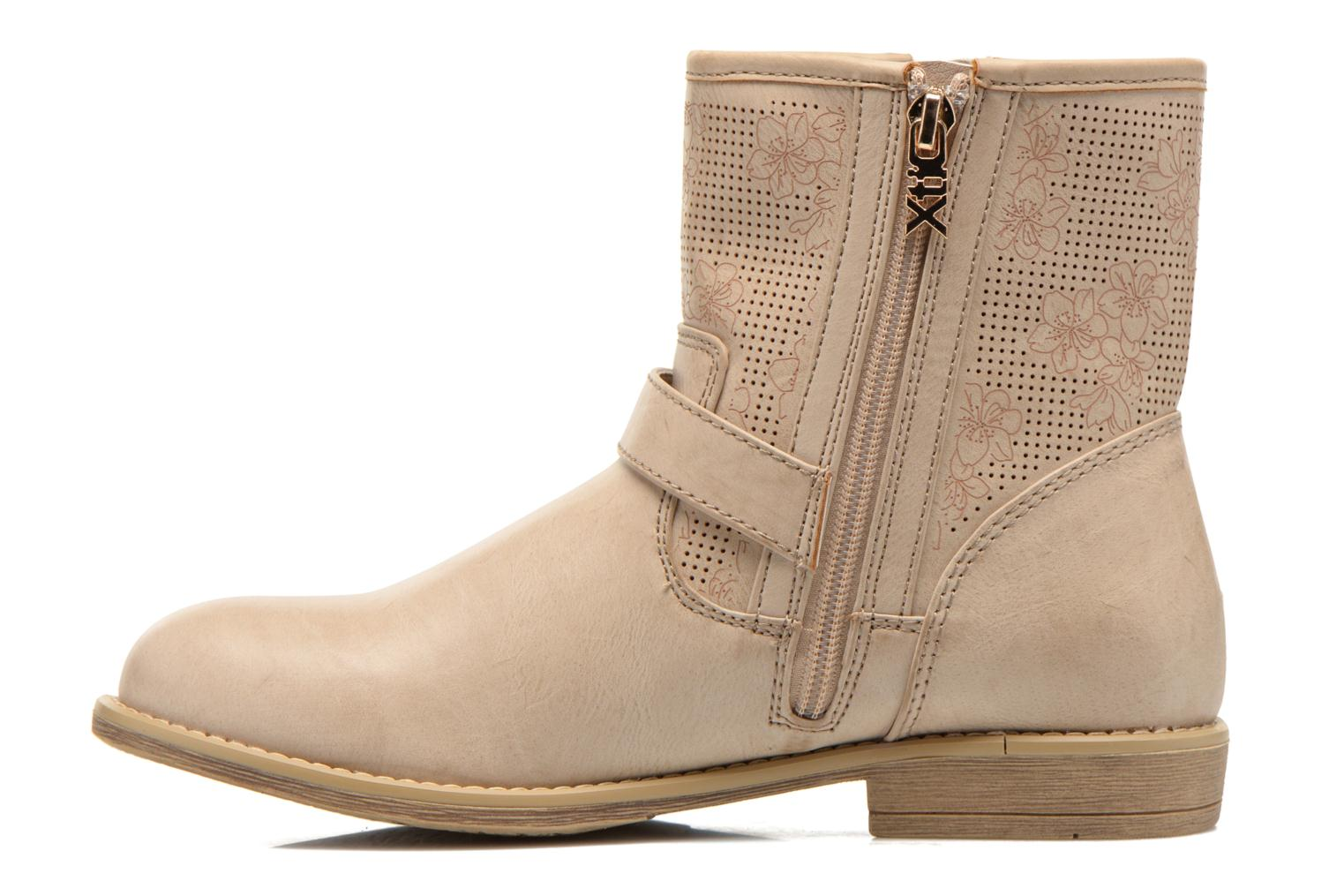 Ankle boots Xti Randy 45017 Beige front view