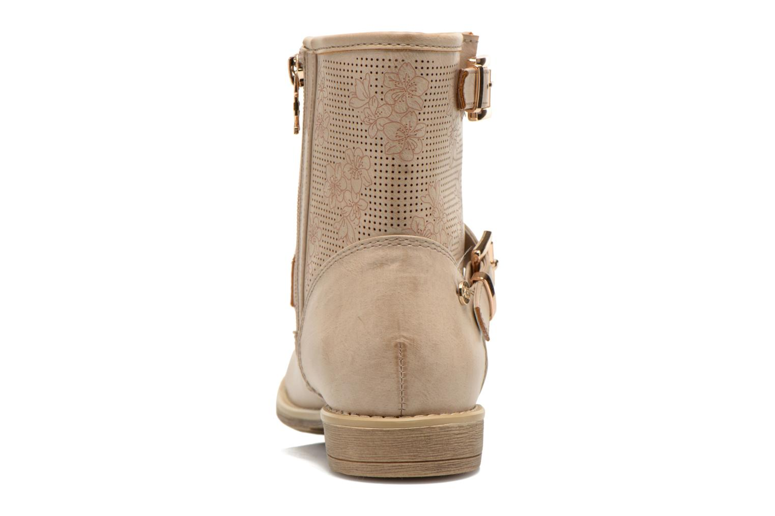 Ankle boots Xti Randy 45017 Beige view from the right