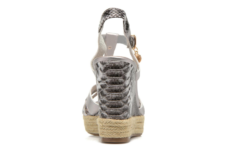 Sandales et nu-pieds Xti Bella 45058 Argent vue droite