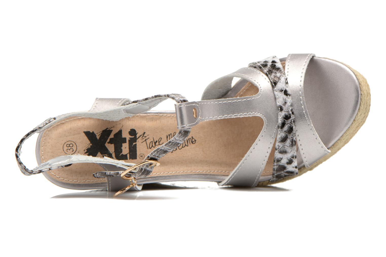 Sandales et nu-pieds Xti Bella 45058 Argent vue gauche