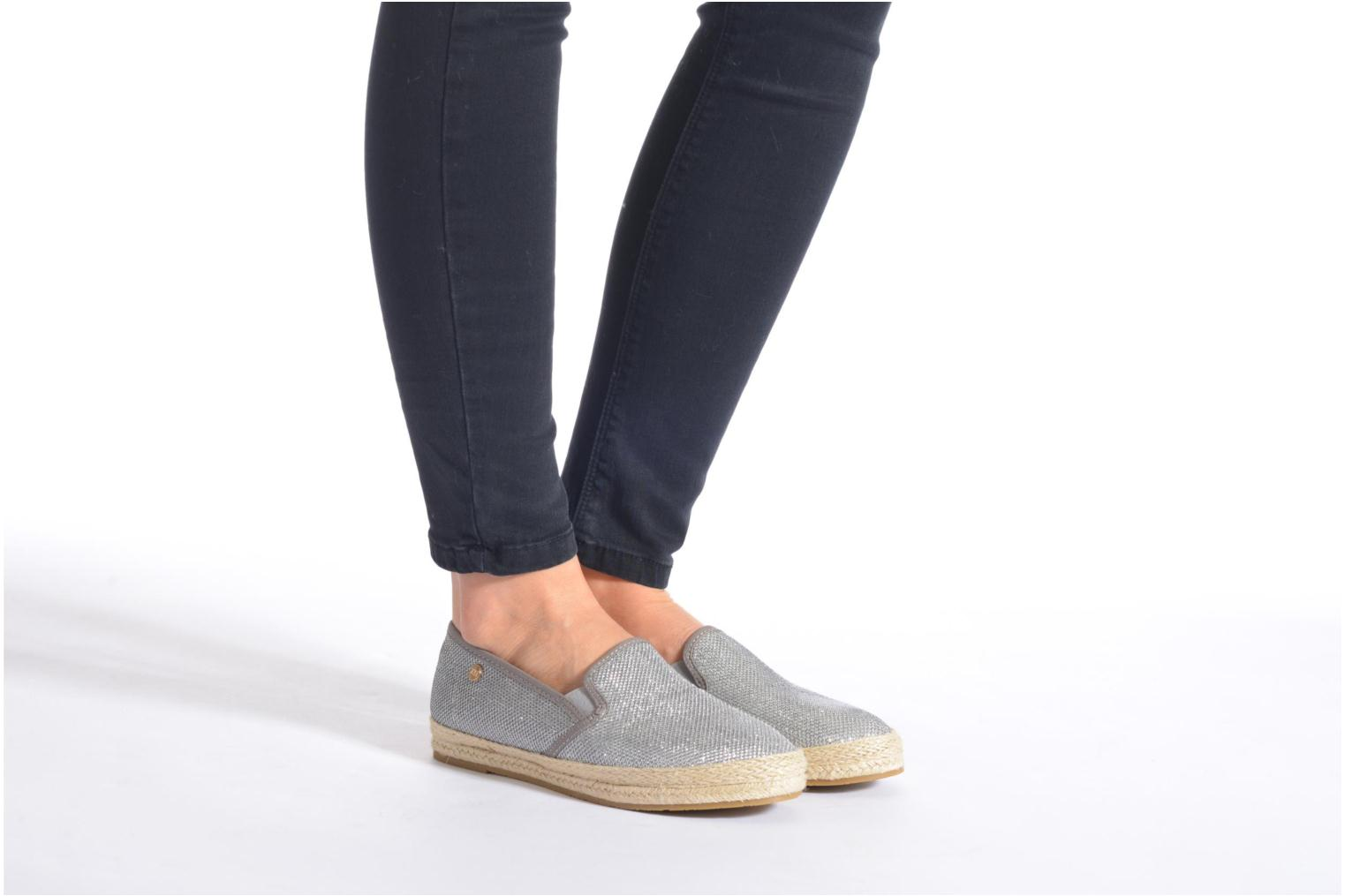 Espadrilles Xti Arianne 45215 Silver view from underneath / model view