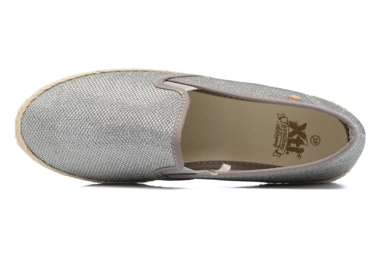 Espadrilles Xti Arianne 45215 Silver view from the left