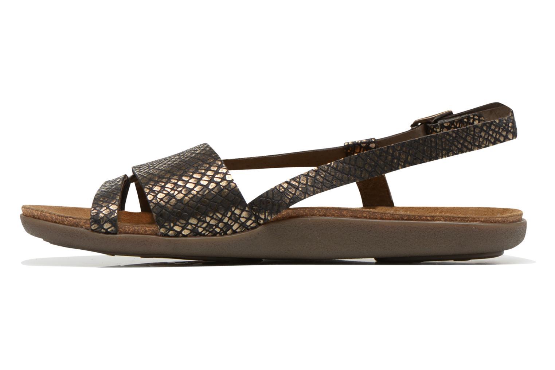 Sandales et nu-pieds Kickers Alchimie Noir vue face