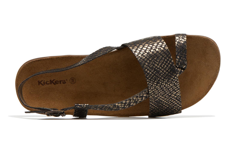 Sandales et nu-pieds Kickers Alchimie Noir vue gauche