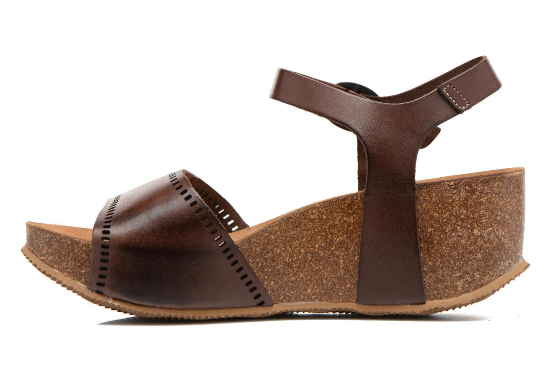 Sandales et nu-pieds Kickers Abyway Marron vue face