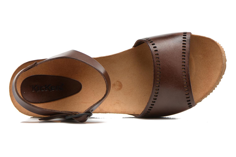 Sandales et nu-pieds Kickers Abyway Marron vue gauche
