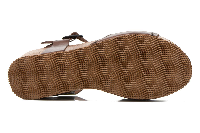 Sandales et nu-pieds Kickers Abyway Marron vue haut