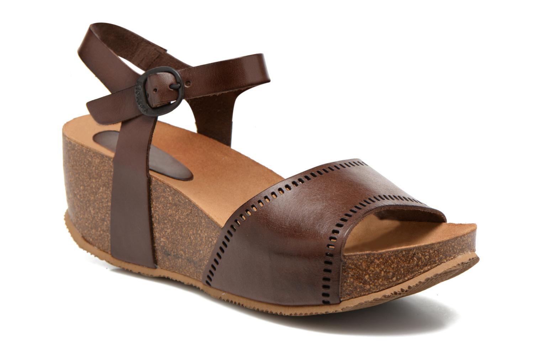 Sandales et nu-pieds Kickers Abyway Marron vue détail/paire