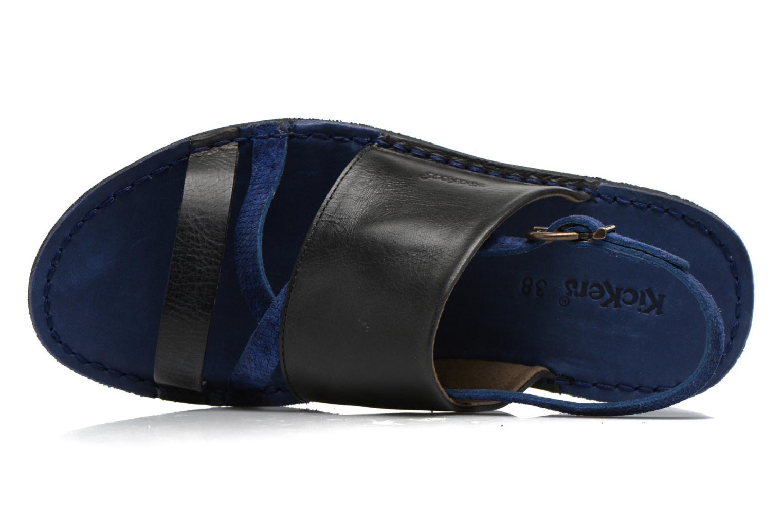 Sandales et nu-pieds Kickers Wawa Bleu vue gauche