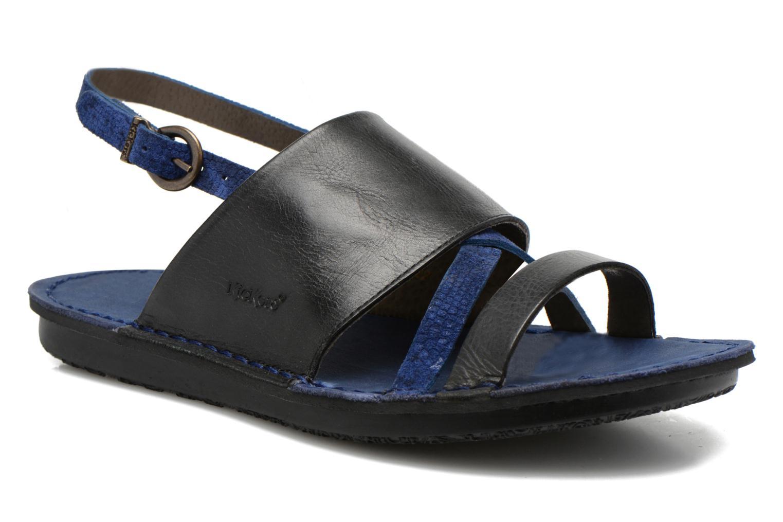 Sandales et nu-pieds Kickers Wawa Bleu vue détail/paire