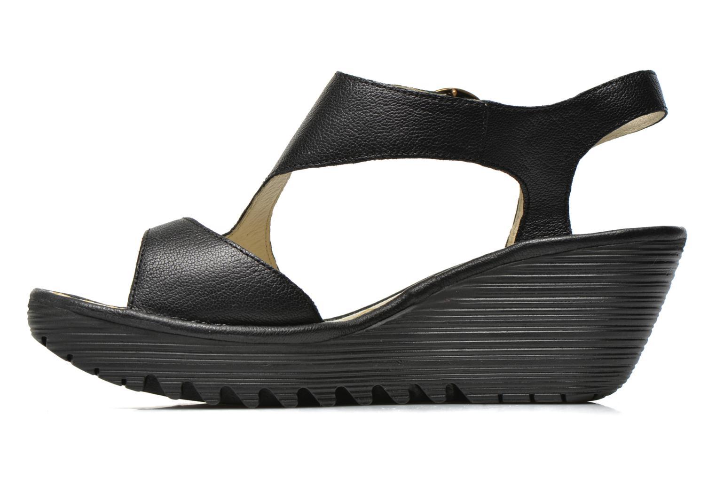 Sandalen Fly London Yanca schwarz ansicht von vorne