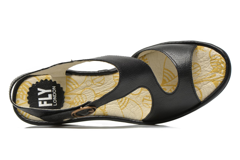 Sandalen Fly London Yanca schwarz ansicht von links