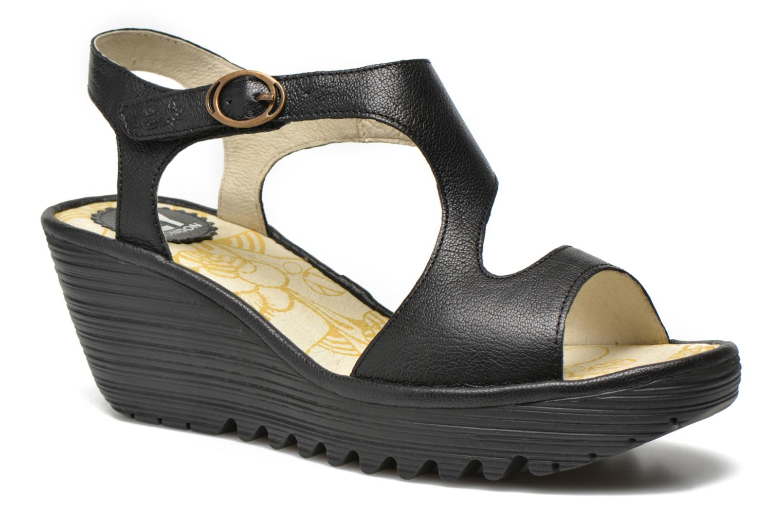 Sandalen Fly London Yanca schwarz detaillierte ansicht/modell