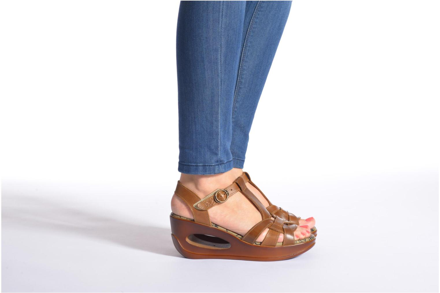 Sandals Fly London Hews Brown view from underneath / model view