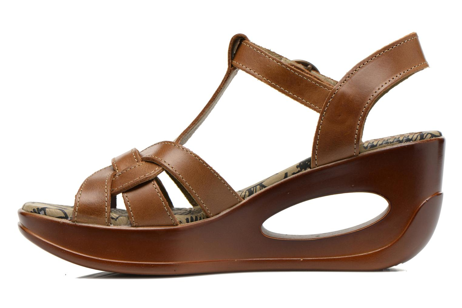 Sandals Fly London Hews Brown front view