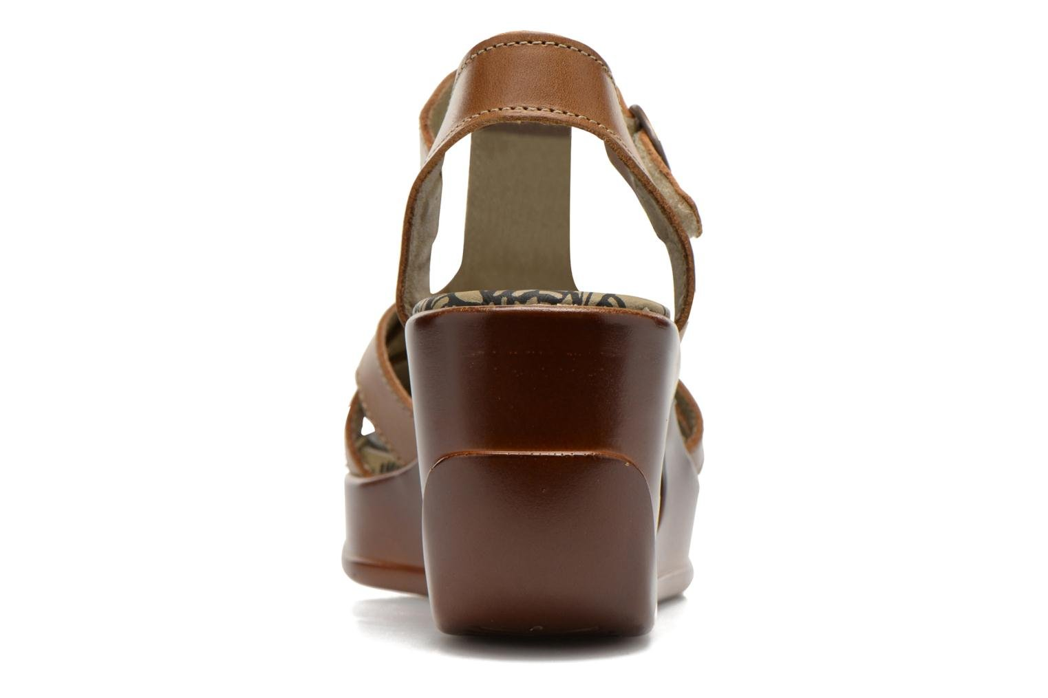 Sandals Fly London Hews Brown view from the right