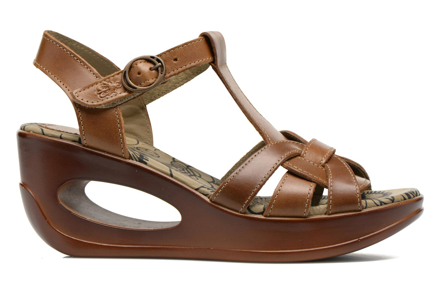 Sandals Fly London Hews Brown back view