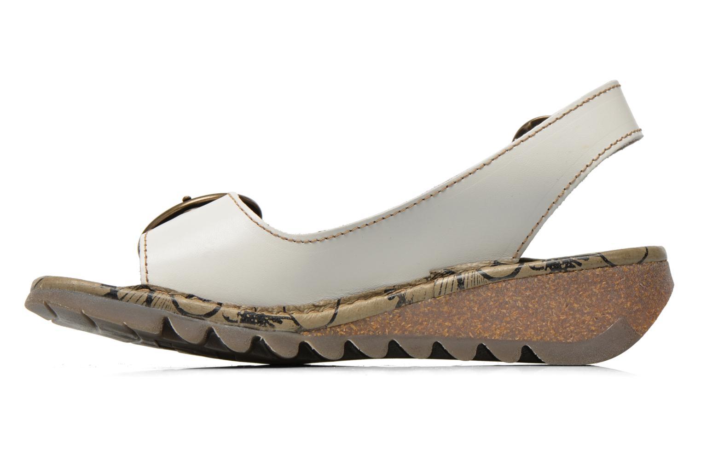 Sandales et nu-pieds Fly London Tram 723 Blanc vue face