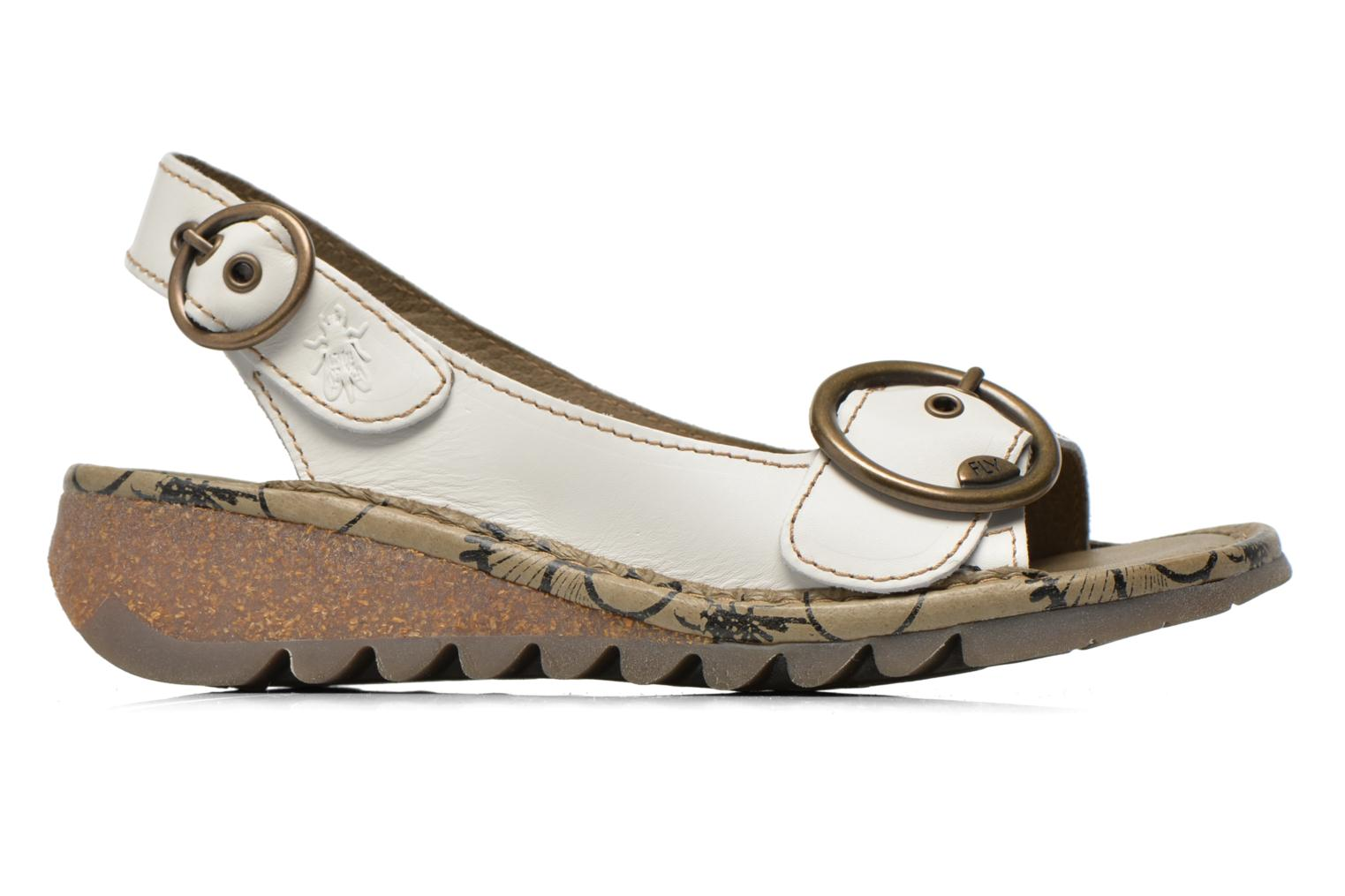 Sandals Fly London Tram 723 White back view