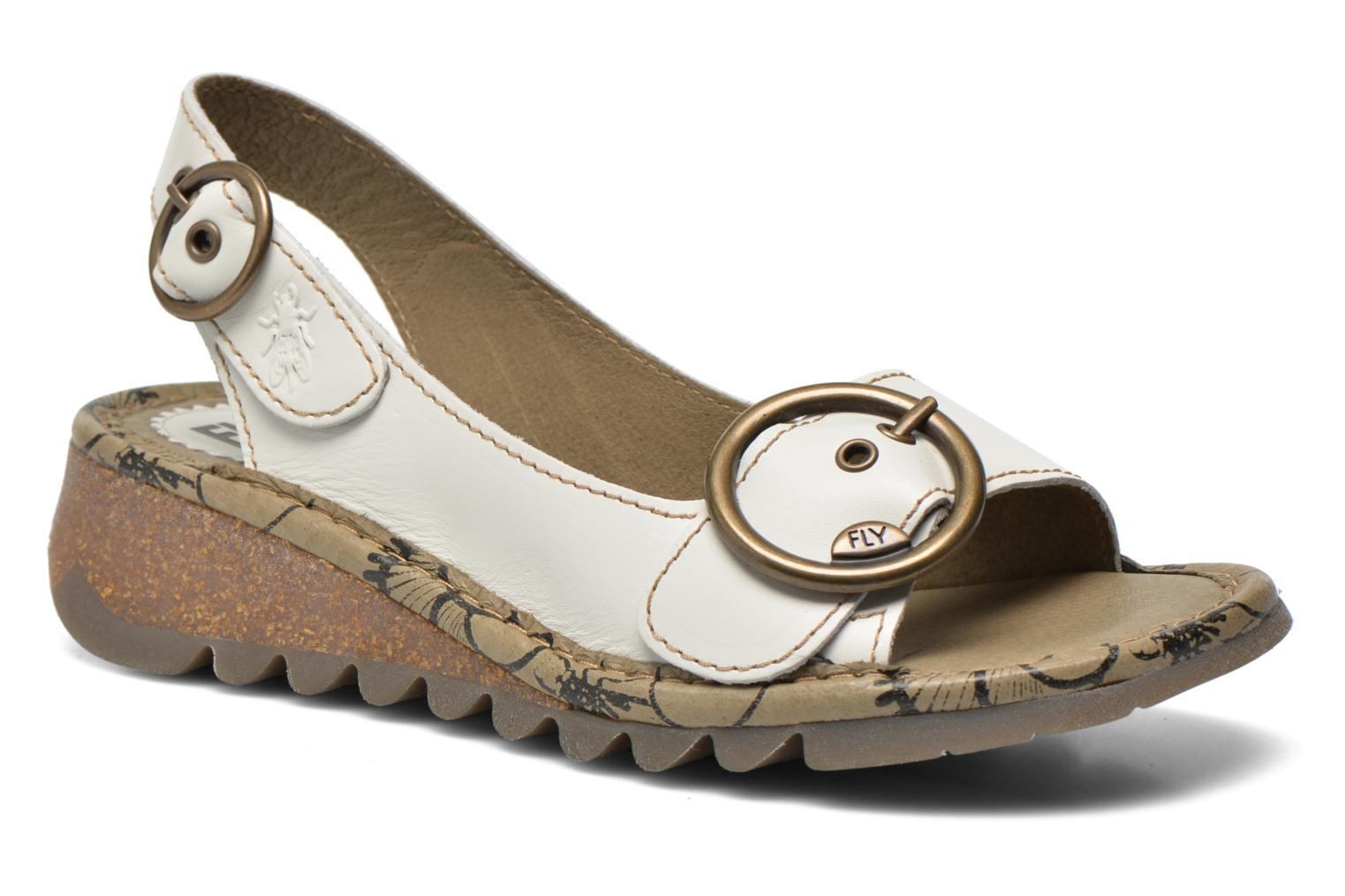 Sandals Fly London Tram 723 White detailed view/ Pair view